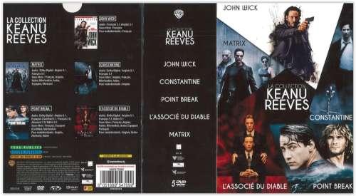 Keanu Reeves : la collection. John Wick / [Chad Stahelski, réal.]. Constantine / [Francis Lawrence, réal.]. Point Break / [Kathryn Bigelow, réal.]. L'associé du Diable / [Taylor Hackford, réal.]. Matrix / [Lilly Wachowski, Lana Wachowski, réal.] | Stahelski, Chad (1968-....) - Réalisateur
