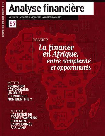 Analyse financière : la revue de la société française des analystes financiers |