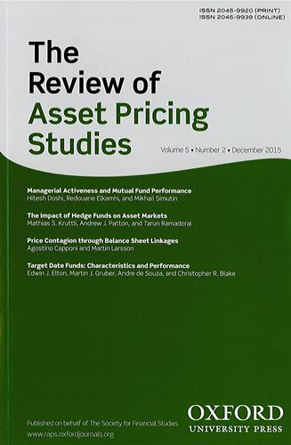 The review of asset pricing studies |
