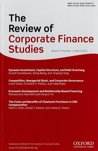 The review of corporate finance studies |