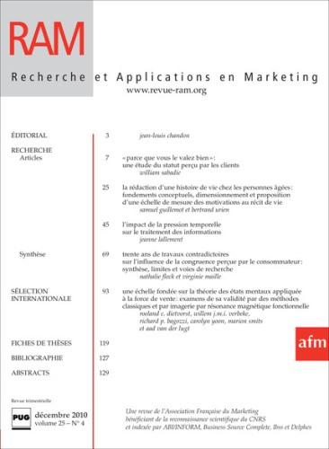 Recherche et applications en marketing |