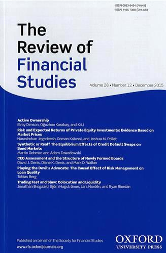 The Review of financial studies |